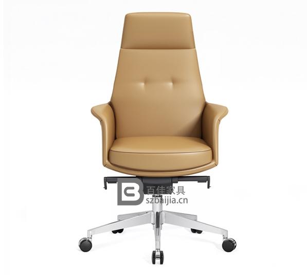 现代皮质大班椅-14
